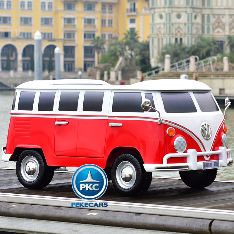 Furgoneta Volkswagen 2 plazas 12V 2.4G Roja width=