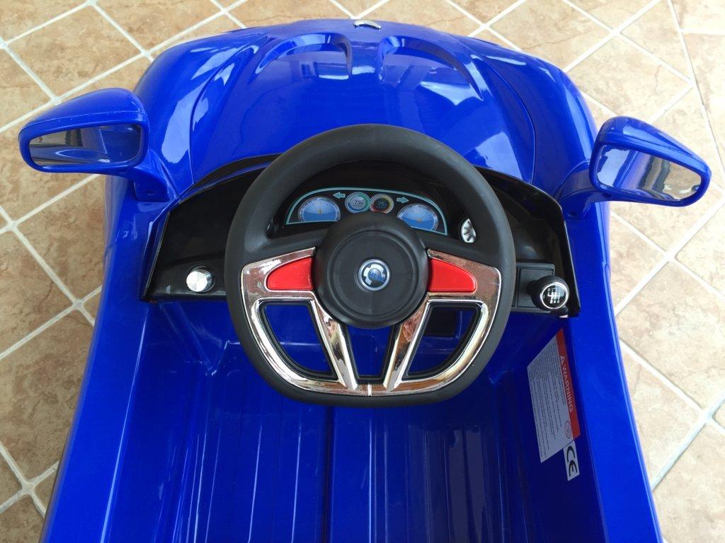 mi primer deportivo 6v azul volante