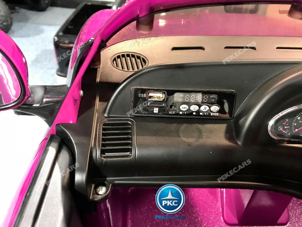 Maserati gran turismo para niños 12V 2.4G Rosa con radio FM width=