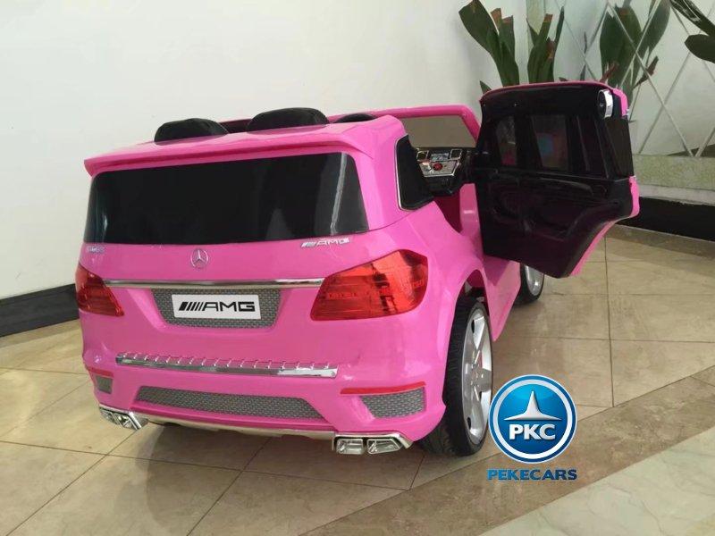 Mercedes GL63 infantil rosa vista trasera