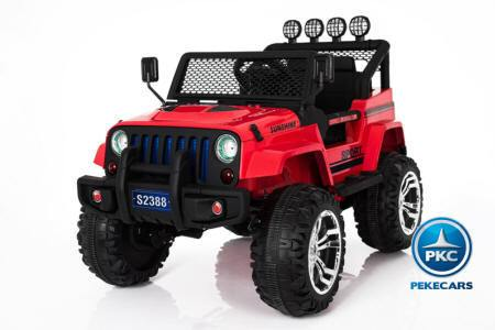 MONSTER JEEP 12V ROJO 2.4G 4x4