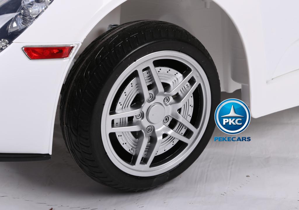 porsche style blanco 12v rueda width=