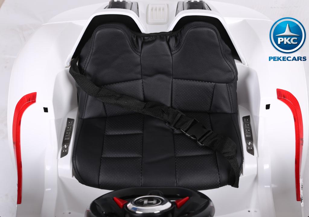 porsche style blanco 12v asiento width=