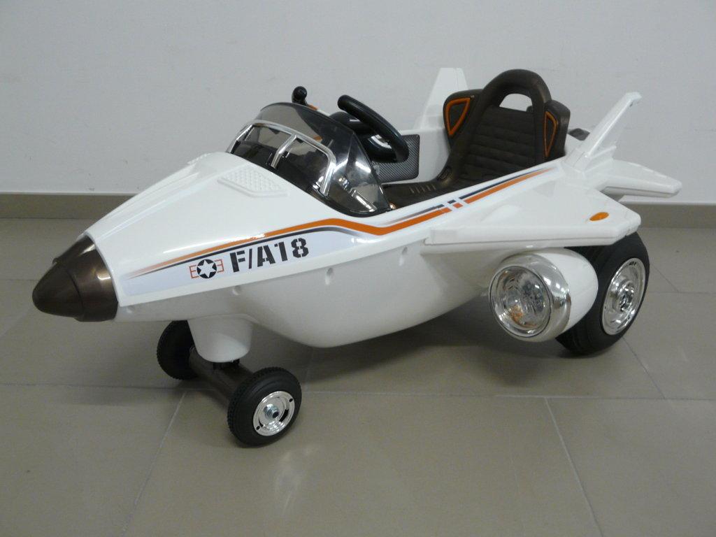 AVION CAZA F-18 12V BLANCO LATERAL IZQUIERDO