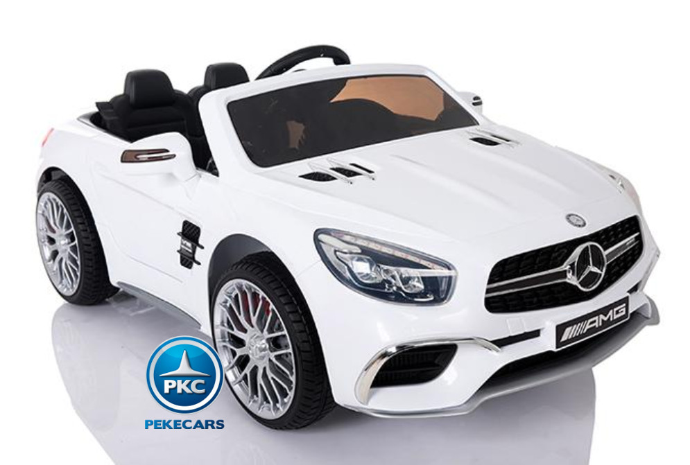 COCHE ELECTRICO MERCEDES SL65 BLANCO MP4 LATERAL DERECHO
