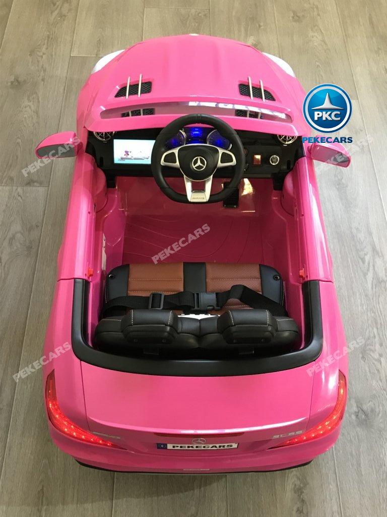 COCHE ELECTRICO MERCEDES SL65 ROSA MP4 SUPERIOR 1 width=