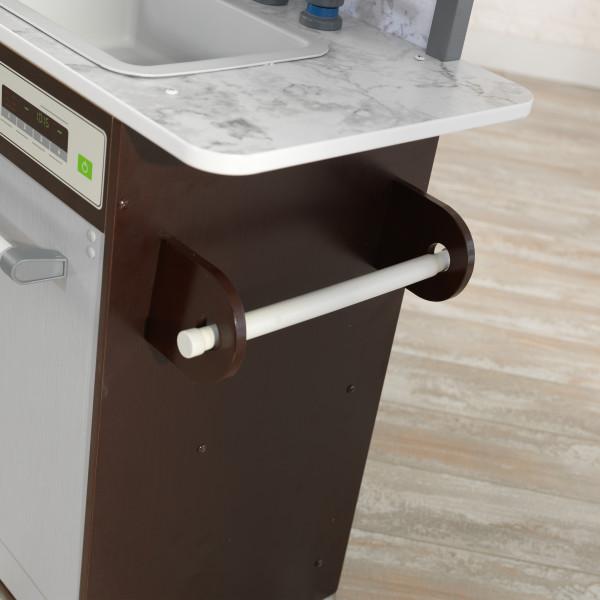 Cocina Uptown Elite Espresso - Soporte lateral para rollo de cocina width=