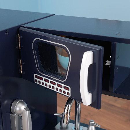 KIDKRAFT 53296 COCINA RETRO AZUL MARINO MICROONDAS width=