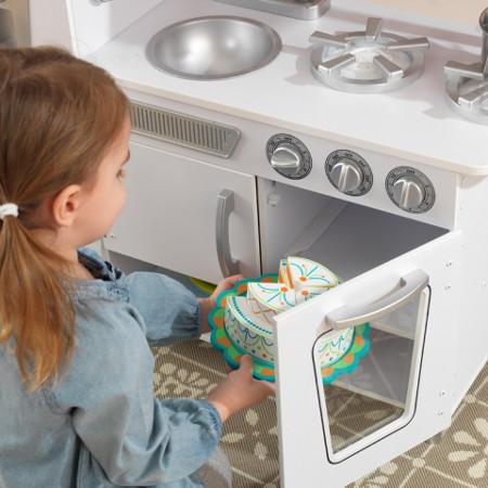 COCINA KIDKRAFT 53208 ESTILO RETRO BLANCO HORNO width=