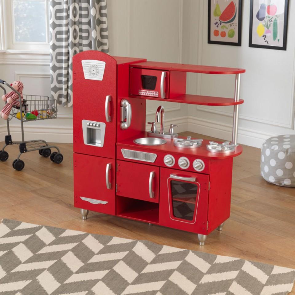Kidkraft Cocina Estilo Retro Color Roja 53173 width=