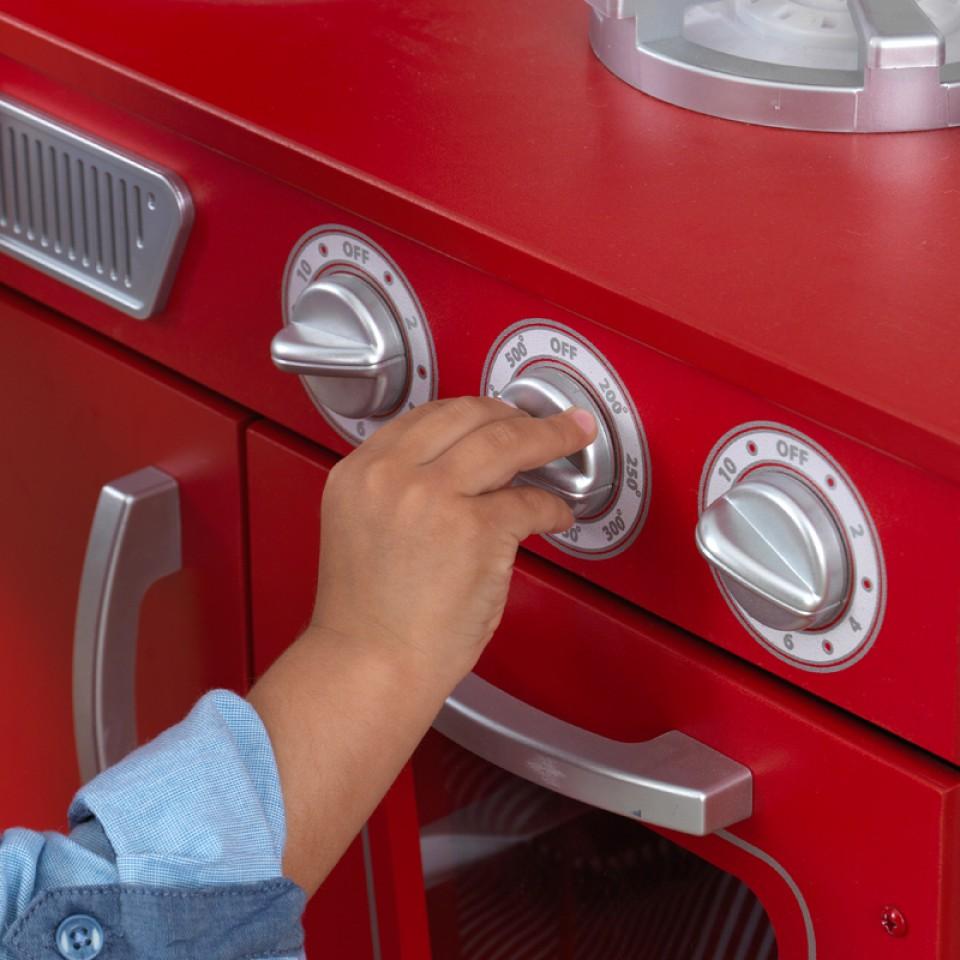 Botones de Kidkraft Cocina Estilo Retro Color Roja 53173 width=