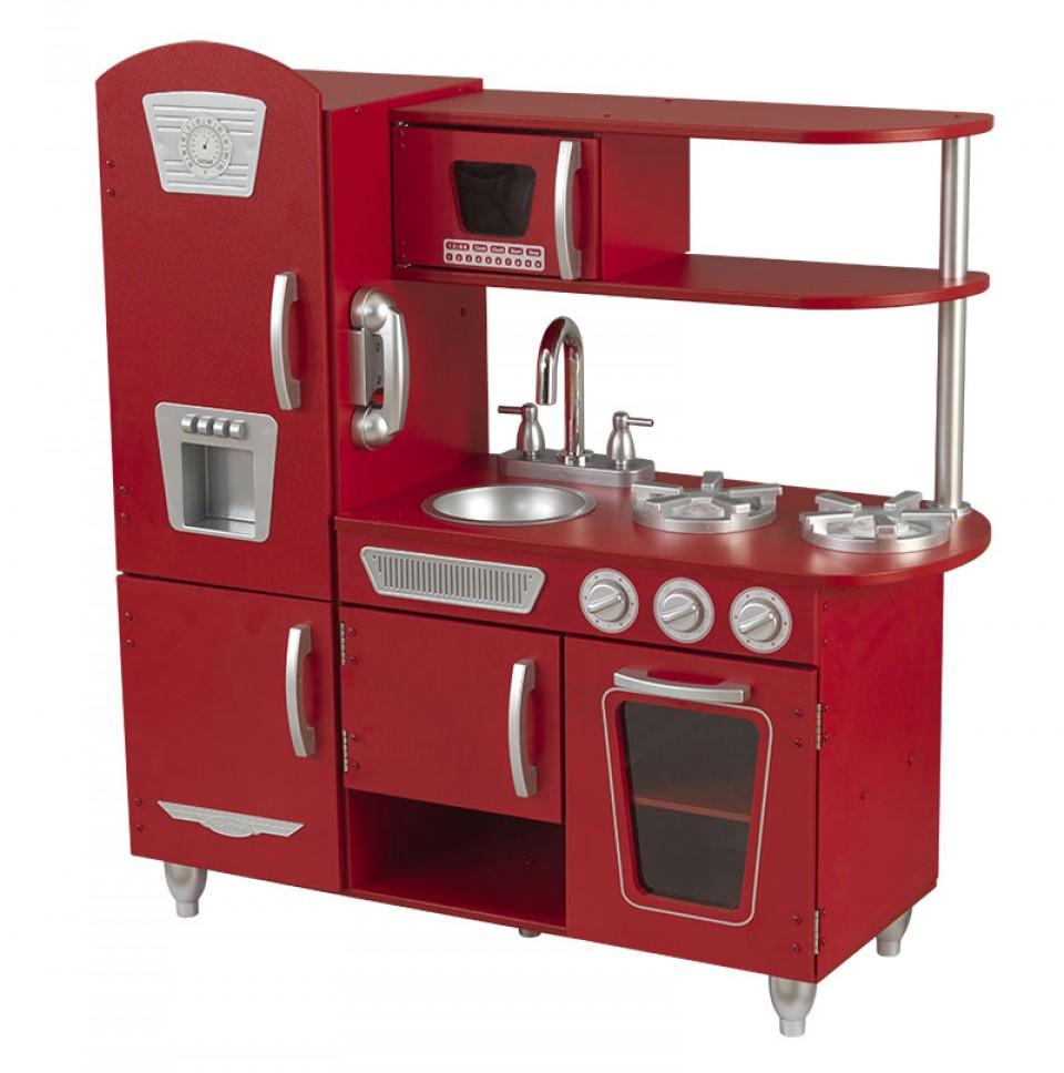 Imagen Kidkraft Cocina Estilo Retro Color Roja 53173 width=