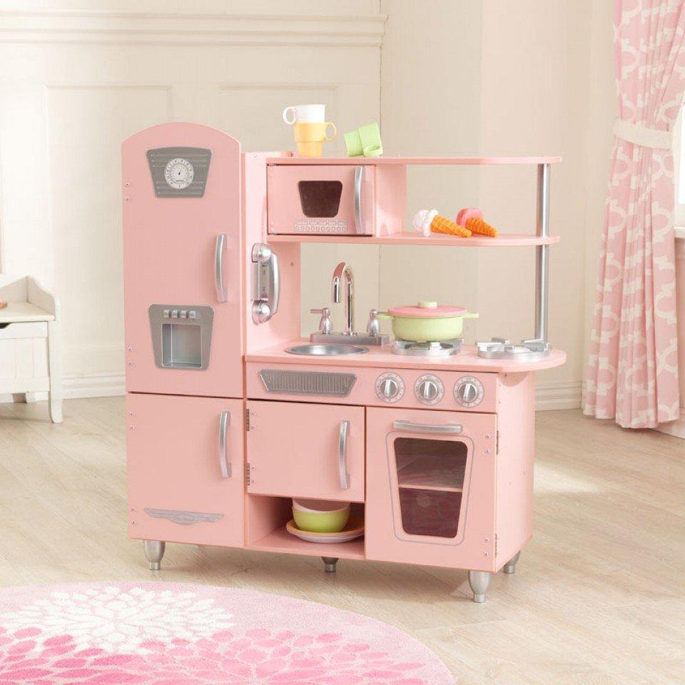 Kidkraft cocina estilo retro color rosa 53179 inforchess - Muebles de cocina estilo retro ...
