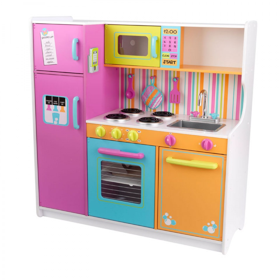 Kidkraft Gran Cocina De Lujo En Colores Brillantes 53100