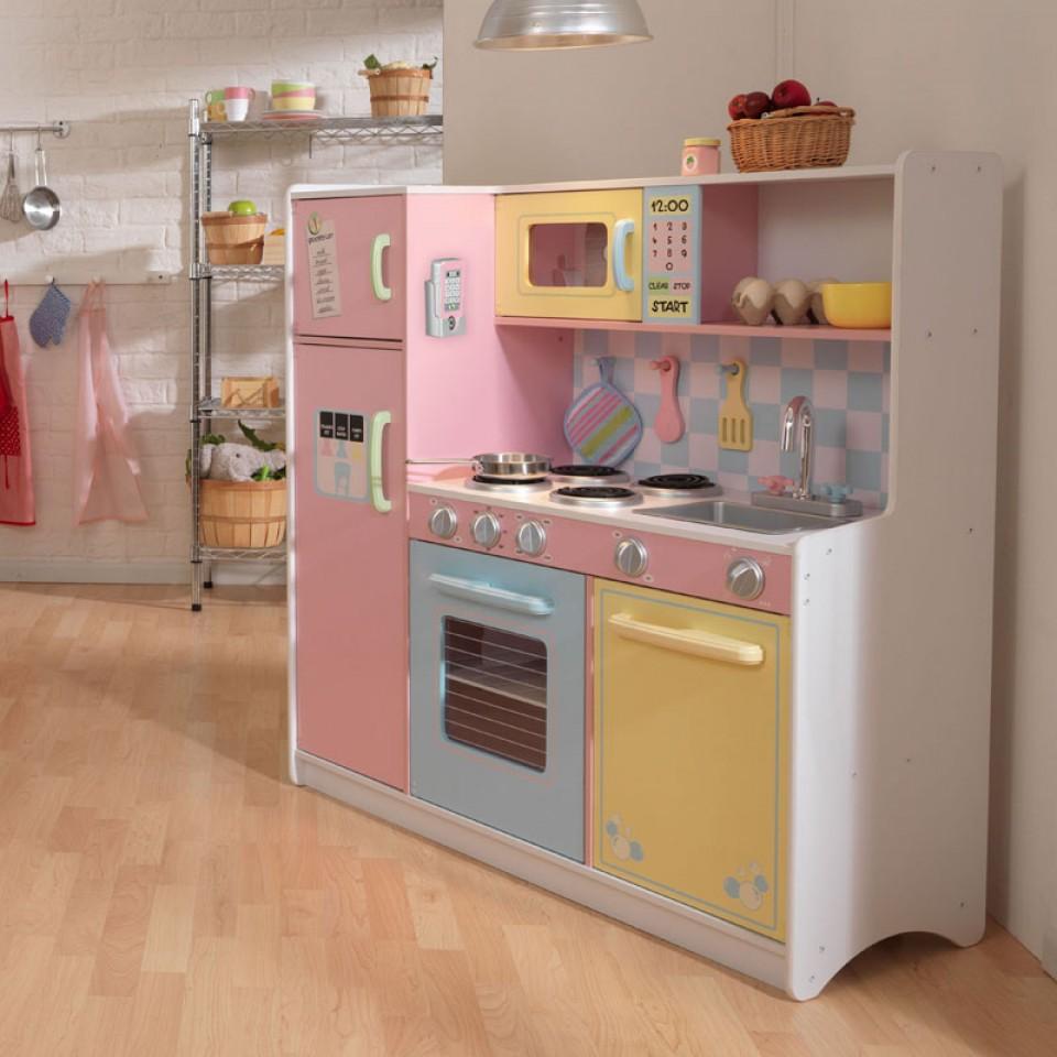 Kidkraft Gran Cocina En Colores Pastel 53181 Inforchess