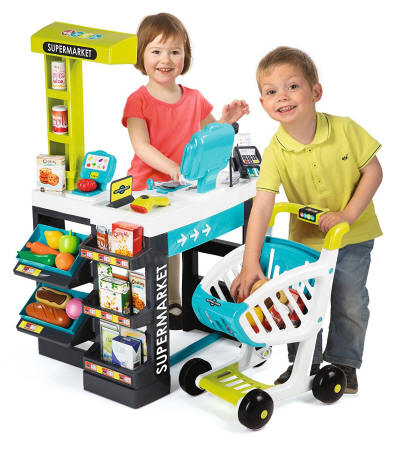 Niños jugando con su Supermarket Smoby