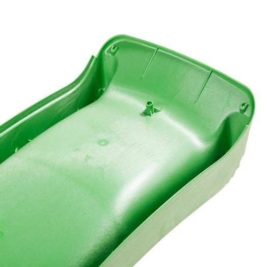 Rampa Tobogan verde lima 150cm - base plataforma acople manguera