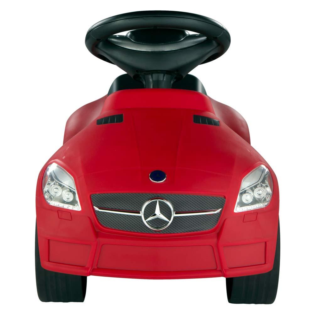 coche rojo mercedes