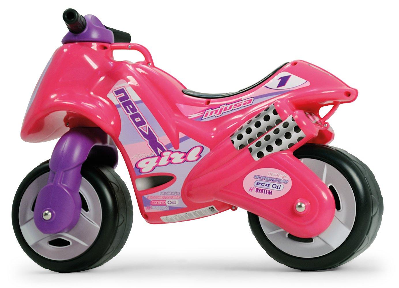 moto correpasillos rosa