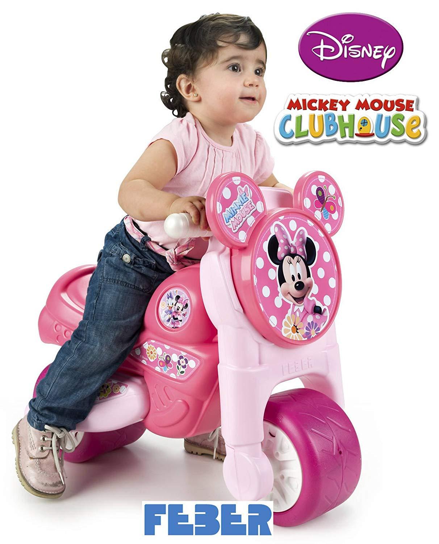 moto rosa con niña width=