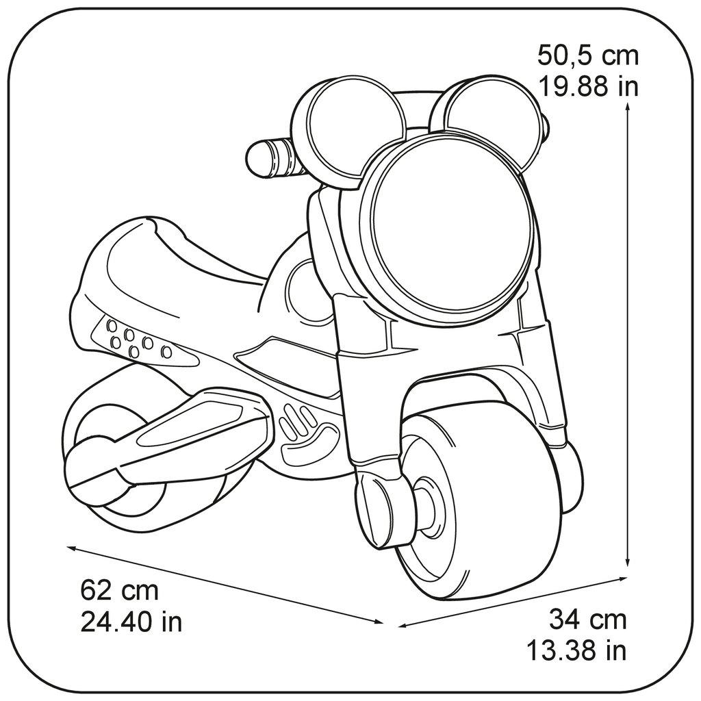 moto rosa de dos ruedas width=