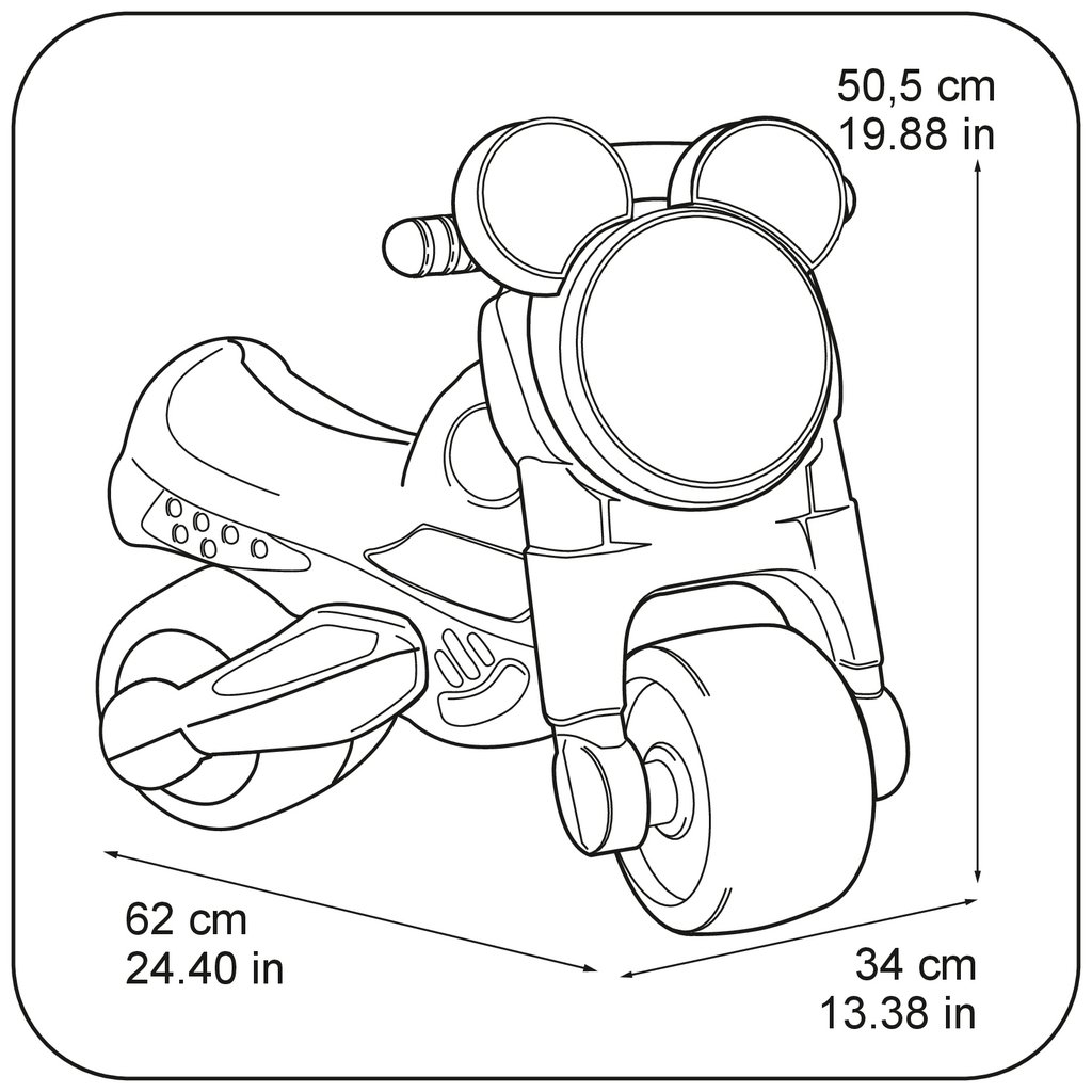 moto disney mickey medidas