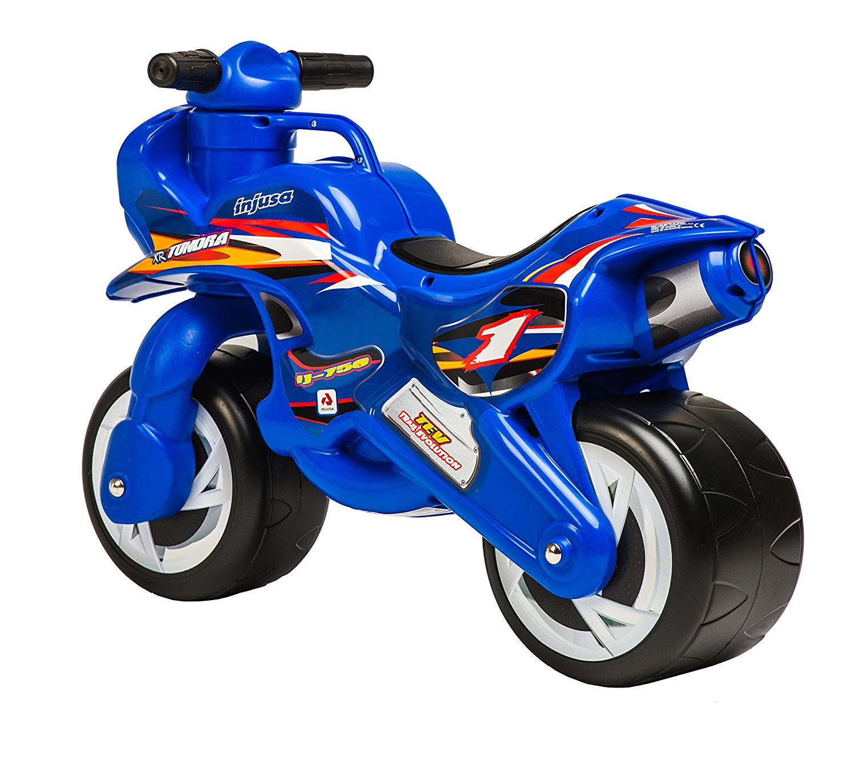 Moto para niño azil con dos ruedas width=