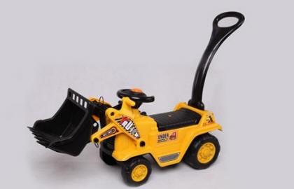 tractor correpasillos amarillo