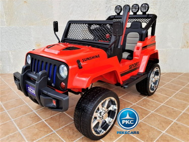 Monster jeep rojo