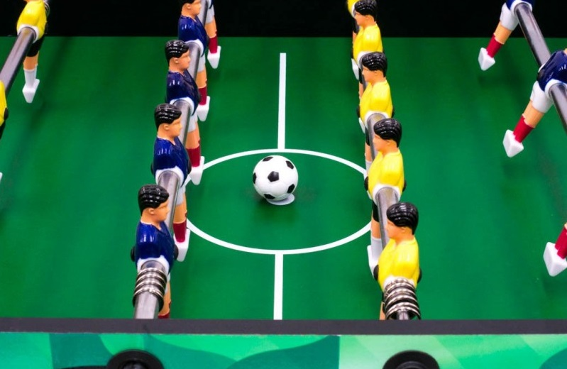futbolín de fácil transporte width=