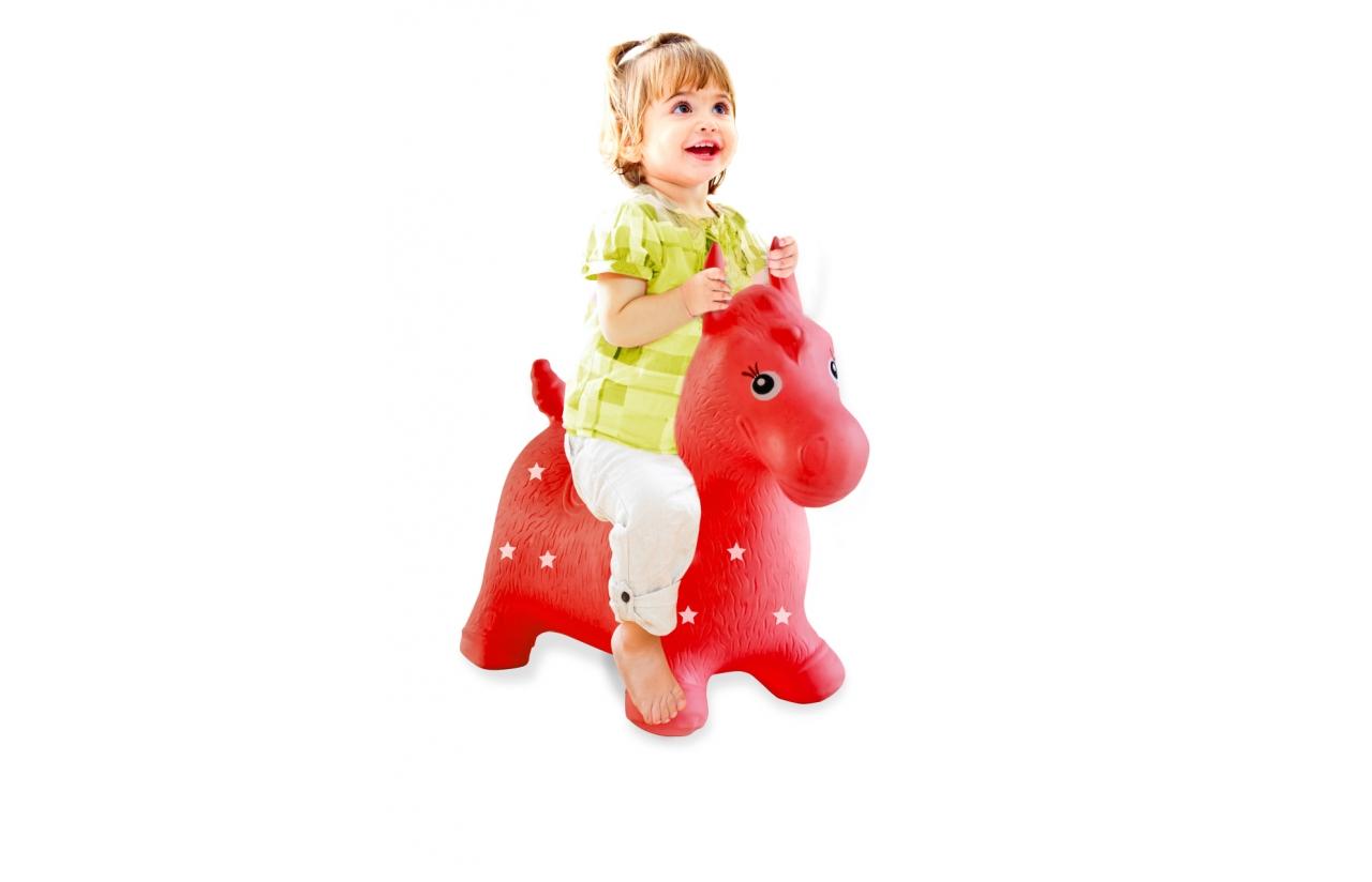 caballo hinchable rojo jamara