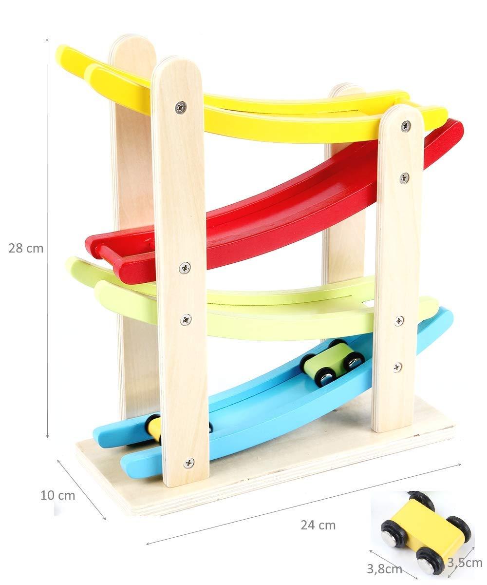 rampas de madera para coches de juguete