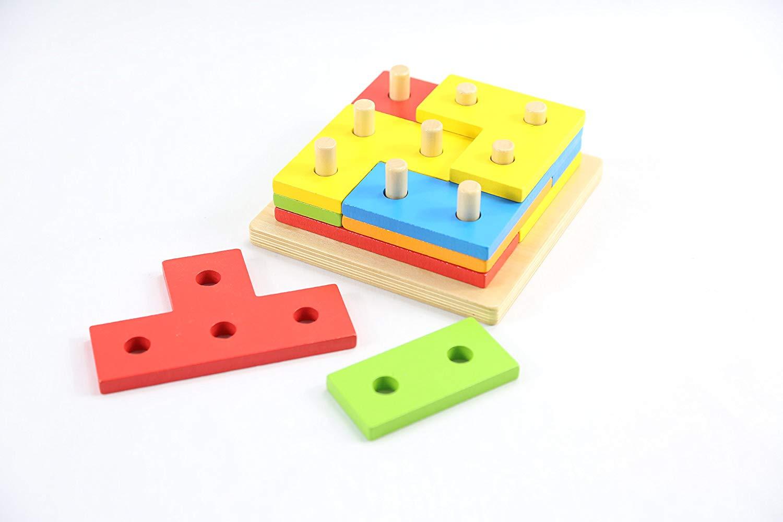Puzzle de Madera 12 Piezas infantiles para niños