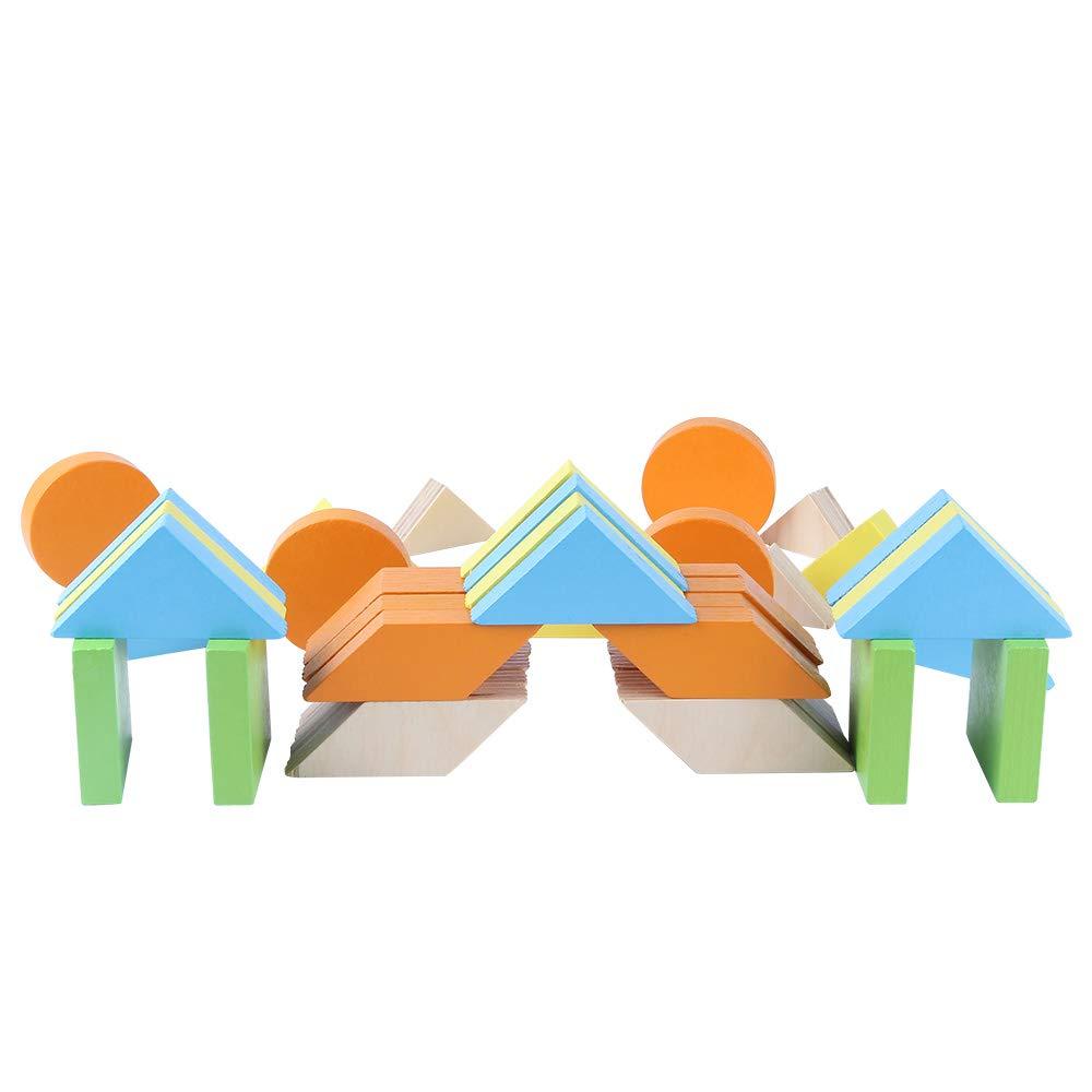 juguete madera con figuras de colores