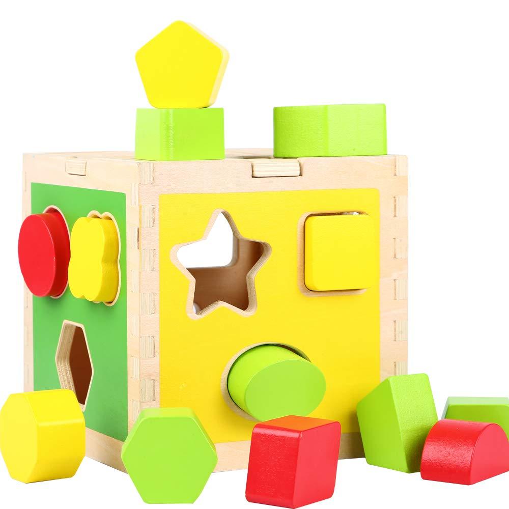 juguete con formas de madera