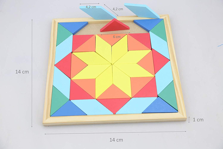 mosaico madera niños