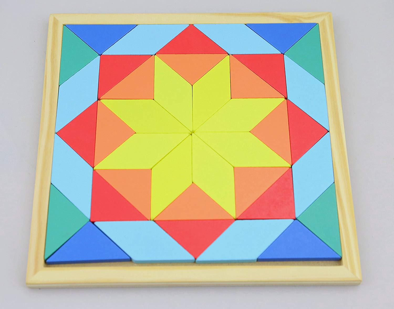 mosaico de juguete de madera