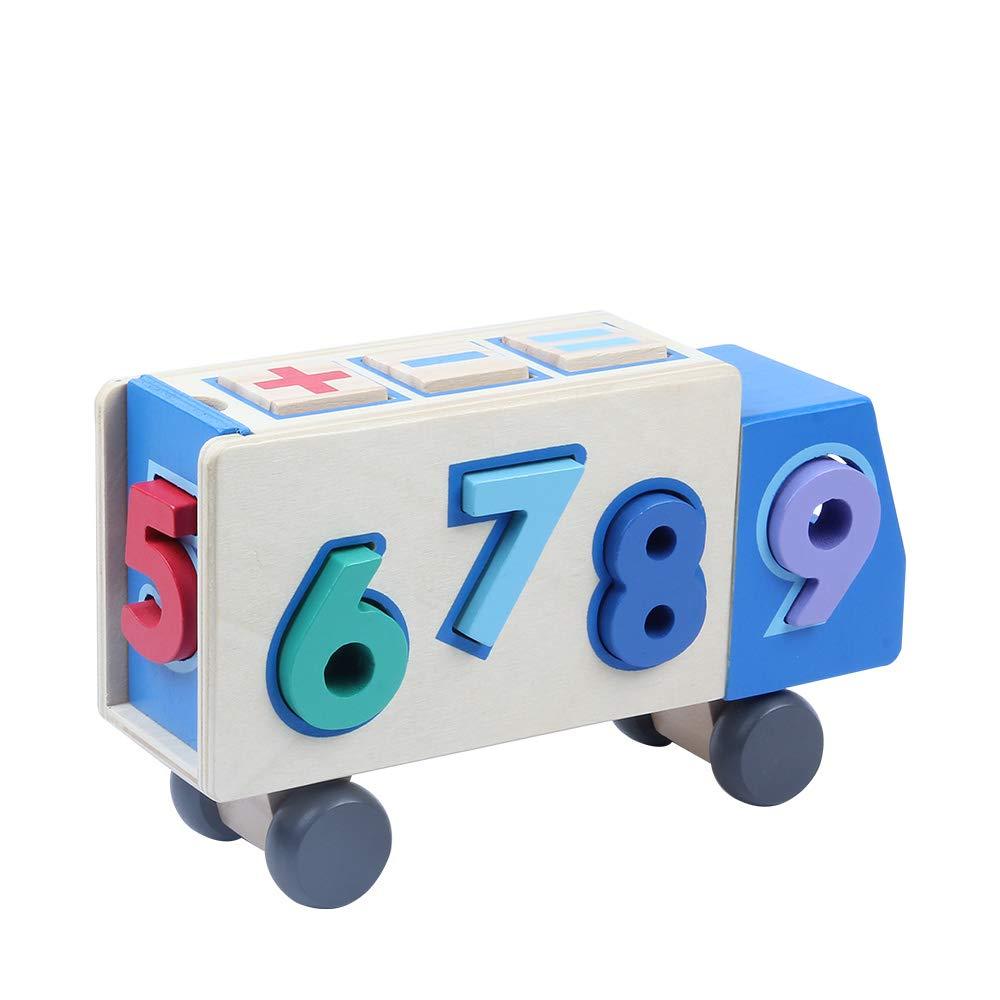 camion de numeros para niños con formas