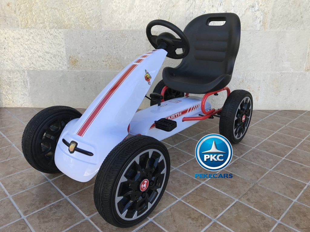 KART A PEDALES FIAT ABARTH BLANCO LATERAL IZQUIERDO