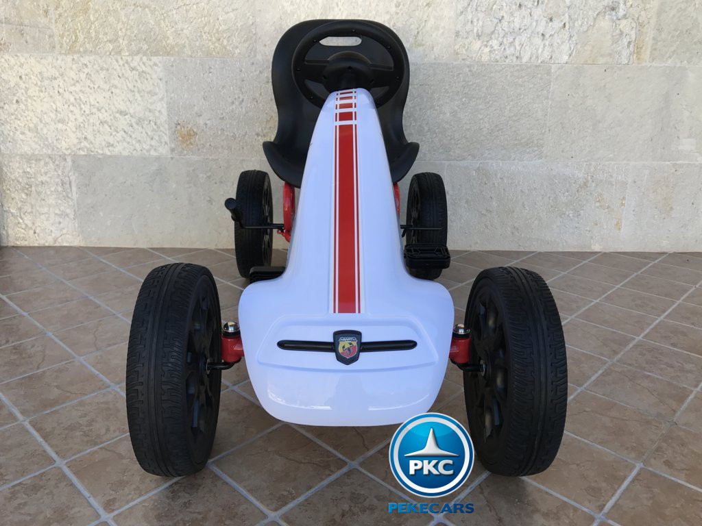 KART A PEDALES FIAT ABARTH BLANCO FRONTAL width=