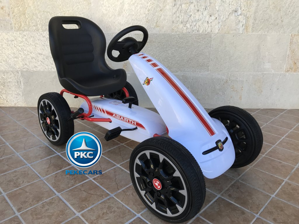 KART A PEDALES FIAT ABARTH BLANCO LATERAL DERECHO width=