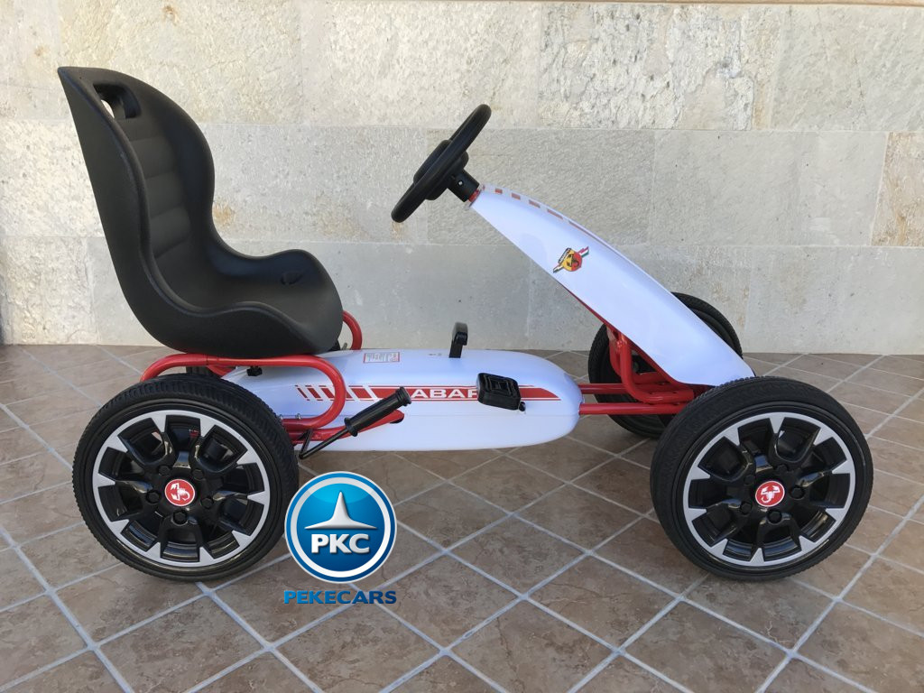 KART A PEDALES FIAT ABARTH BLANCO LATERAL DERECHO1
