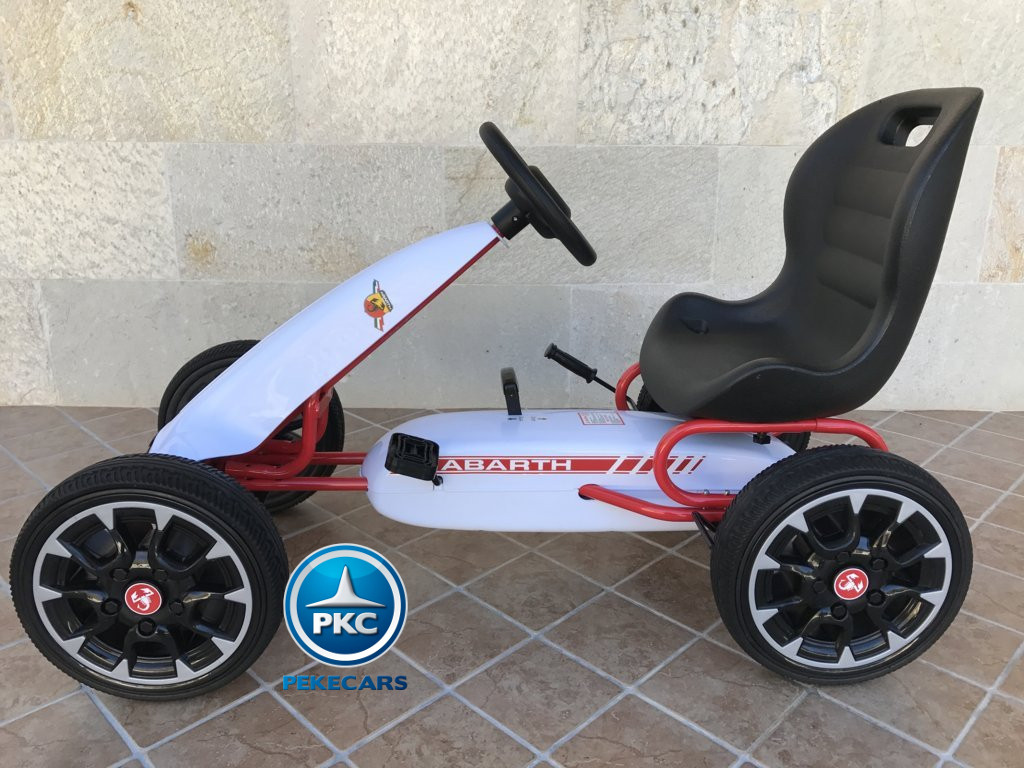 KART A PEDALES FIAT ABARTH BLANCO LATERAL IZQUIERDO width=
