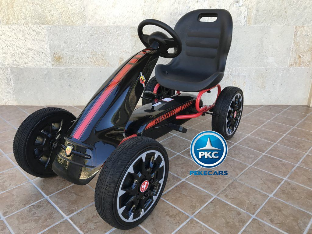 KART A PEDALES FIAT ABARTH NEGRO LATERAL IZQUIERDO
