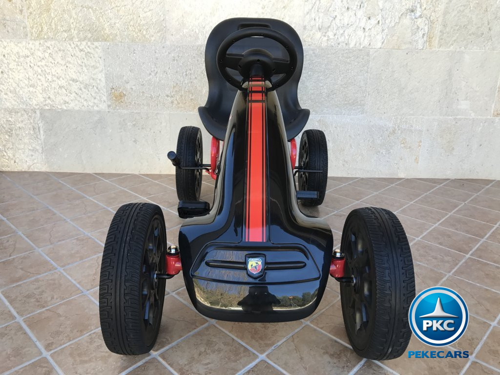 KART A PEDALES FIAT ABARTH NEGRO FRONTAL width=