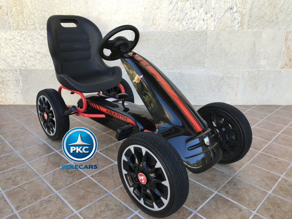 KART A PEDALES FIAT ABARTH NEGRO LATERAL DERECHO width=