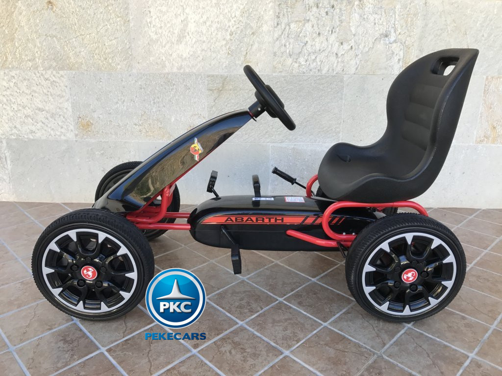 KART A PEDALES FIAT ABARTH NEGRO LATERAL IZQUIERDO width=