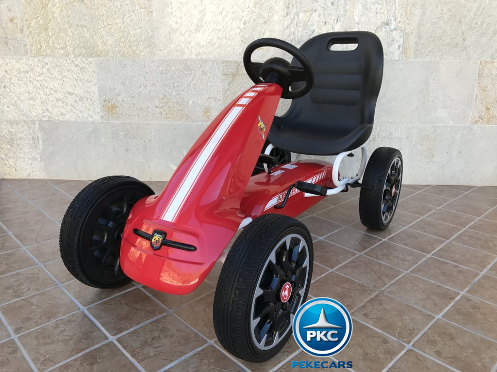 KART A PEDALES FIAT ABARTH ROJO LATERAL IZQUIERDO