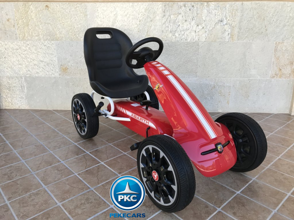 KART A PEDALES FIAT ABARTH ROJO LATERAL DERECHO