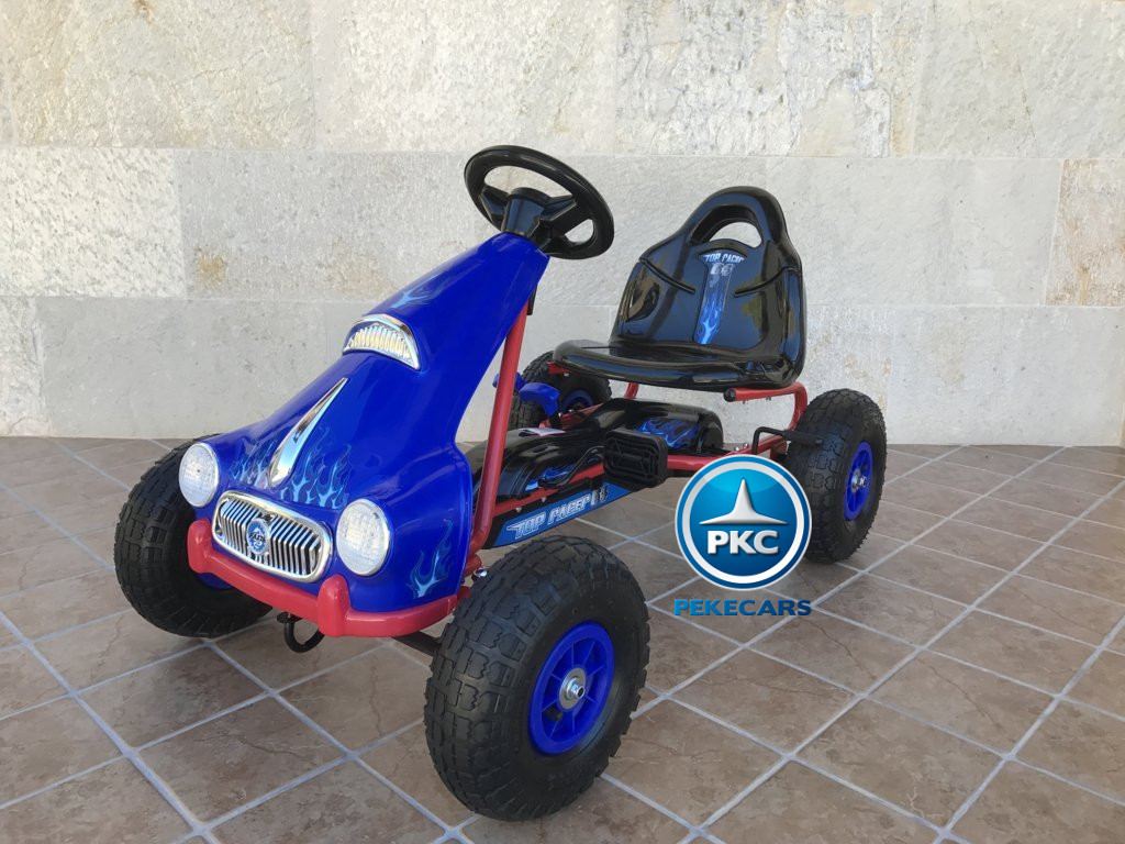 KART A PEDALES FLAME AZUL LATERAL IZQUIERDO width=